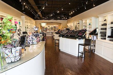 inside of Woo Skincare + Cosmetics in the Paces Ferry Plaza