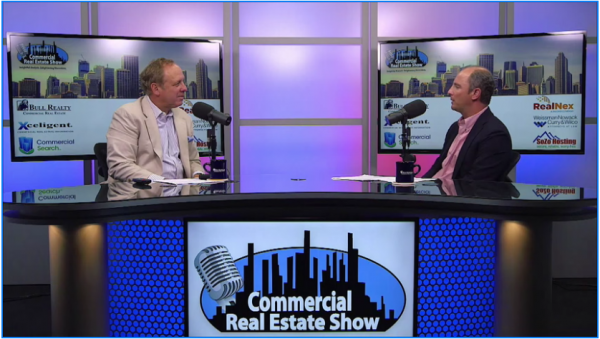 Scott Prigge being interviewed on the Commercial Real Estate show.