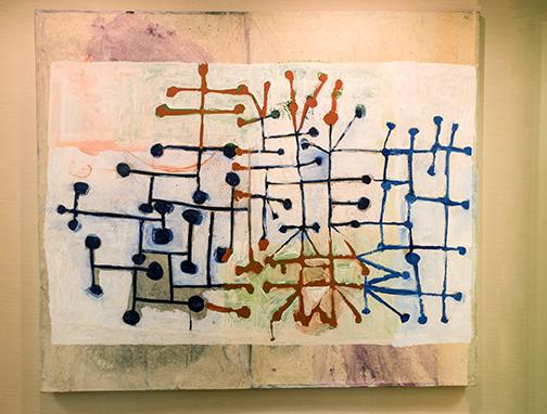 A Roberto Juarez painting hangs in the Regency Centers' corporate office