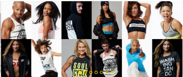 collage of soul cycle merchandise shirts that are available for purchase