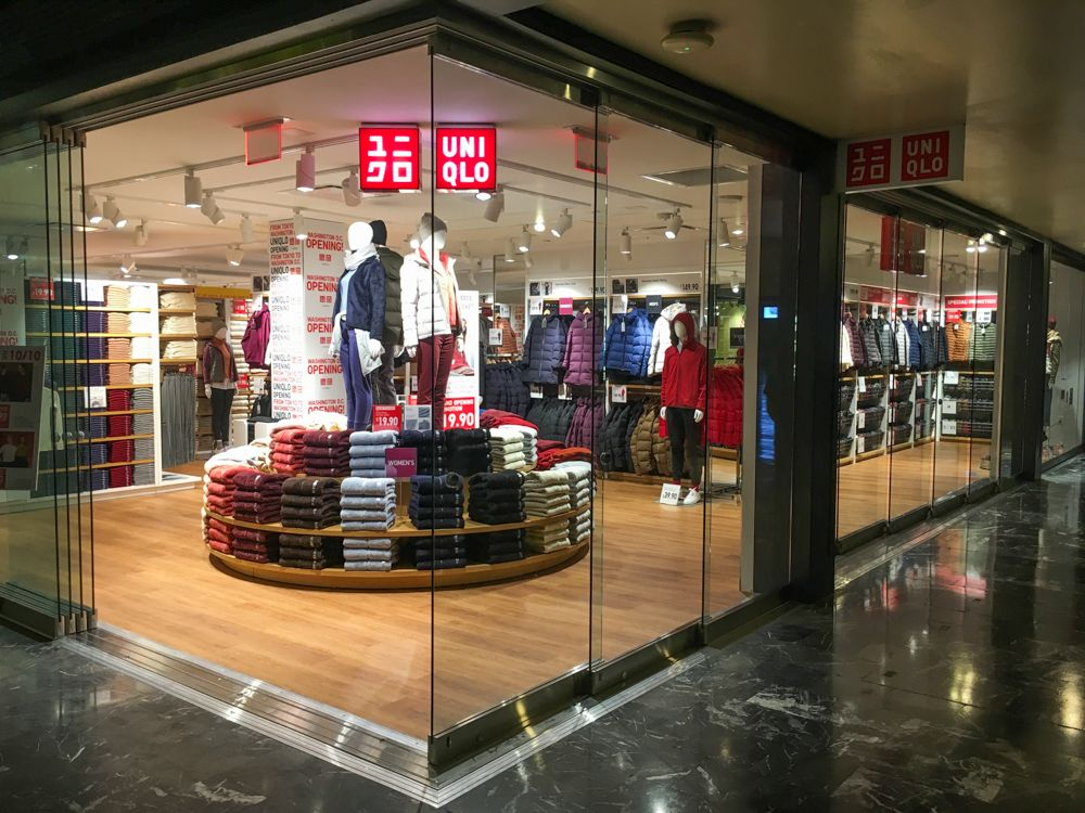 uniqlo storefront featuring winter wear