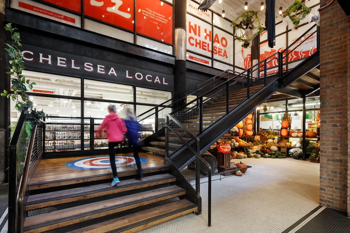 inside of Chelsea Market in New York City
