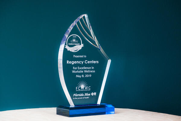 Excellence in Worksite Wellness Award for Regency Centers