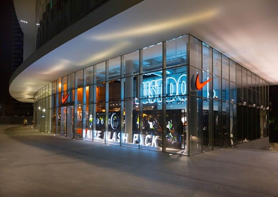 Nike Storefront at night