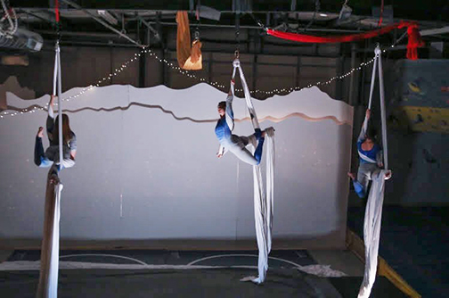 Aerial Silks being demonstrated