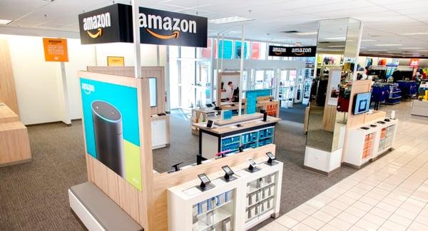 Amazon kiosk inside a Kohl's store