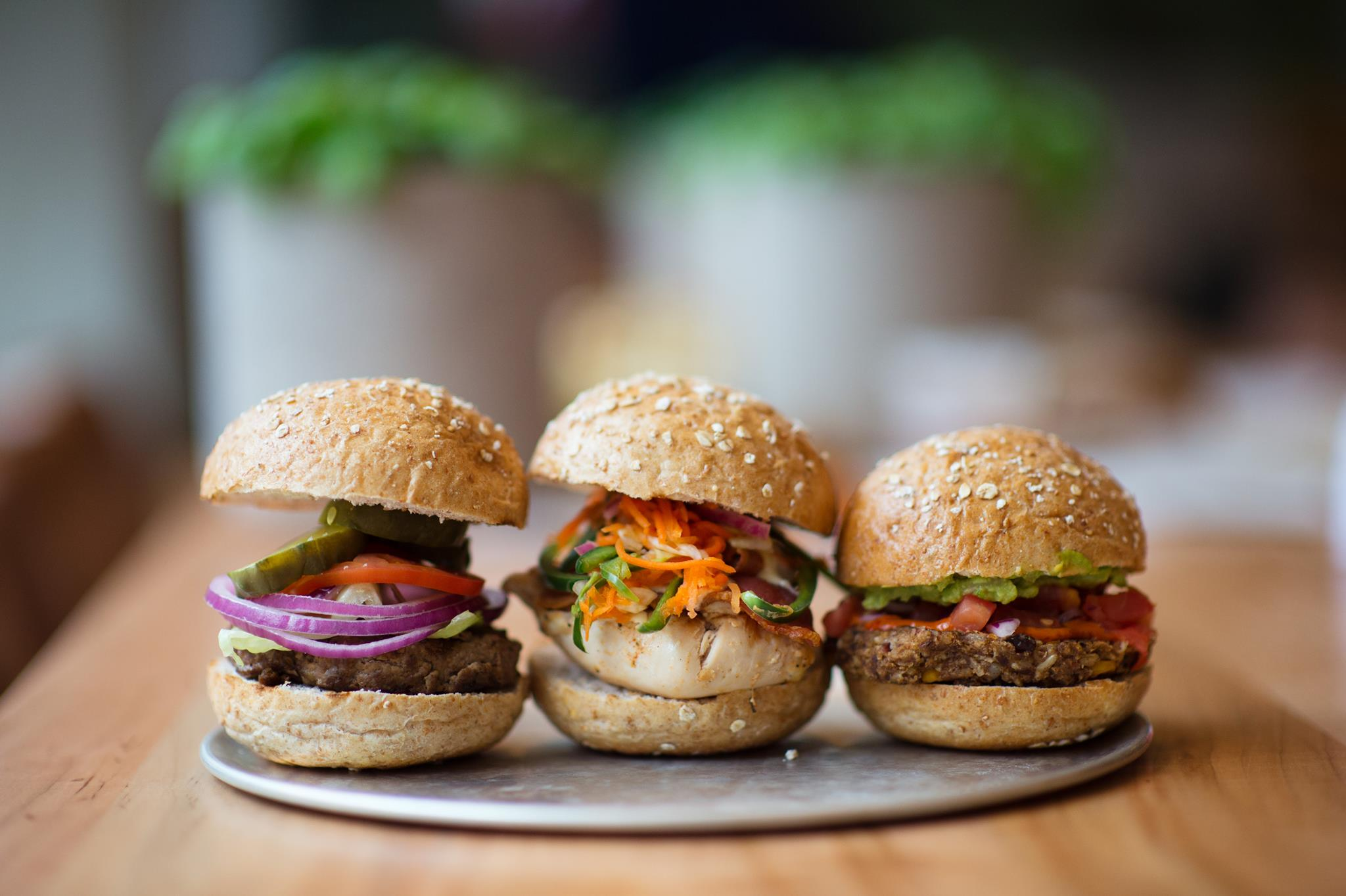B.Good burger sliders on whole grain bread