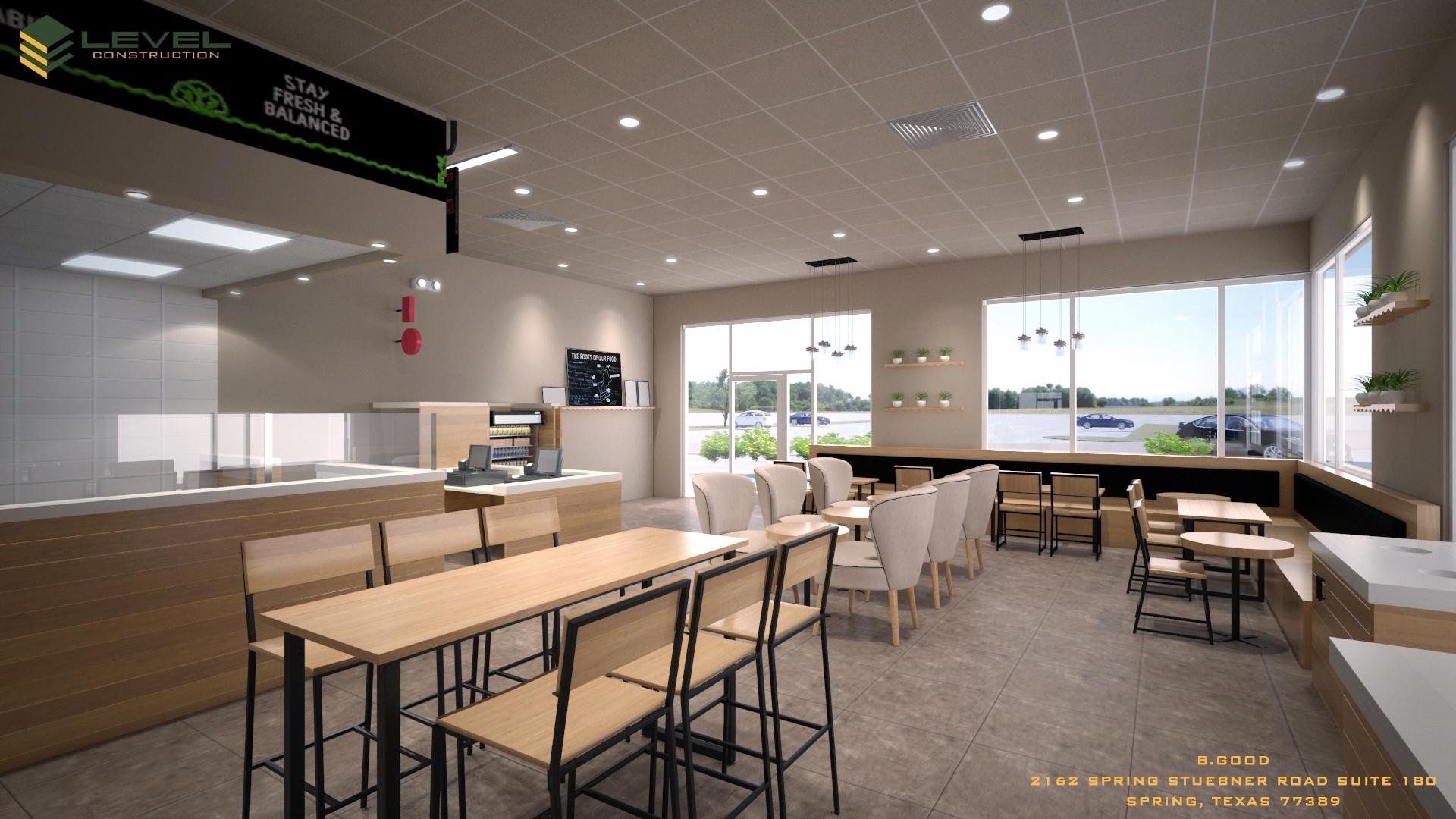 BGOOD rendering of inside store