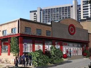 Rendering of a smaller Target storefront.