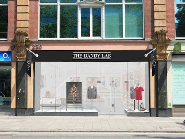 The Dandy Lab store front in a downtown area