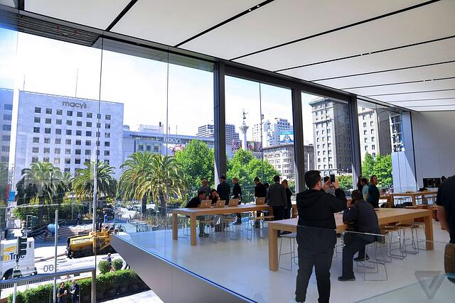 Inside Apple's new San Francisco store.