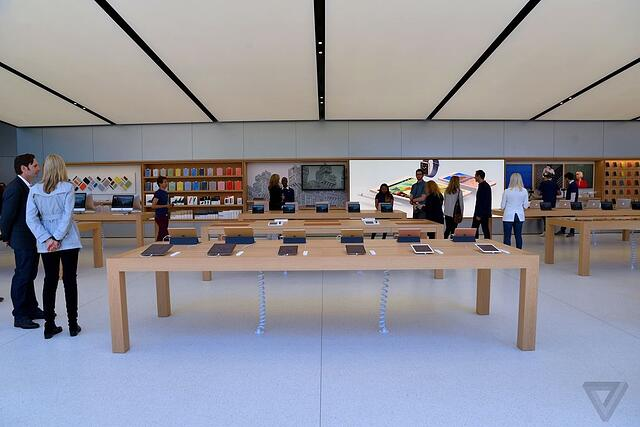 iPads on display in store.