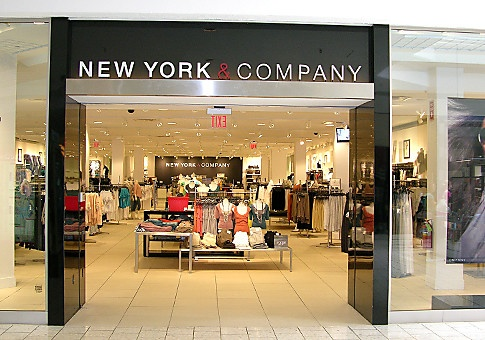 Entrance to a New York & Company store inside a mall.
