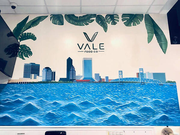 final mural for Vale Food Co by Angelina Kaduk