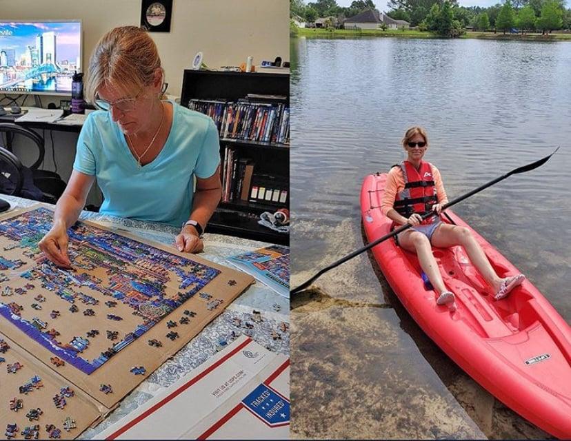 Trish M. Kayak & Puzzle - Quarantine Hobby
