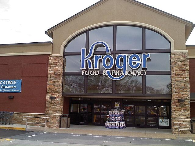 Kroger food and pharmacy storefront