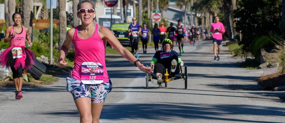 Laura Clark running 26.2 miles