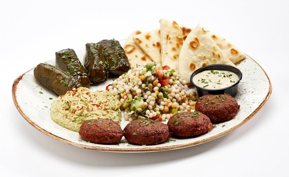 Luna Grill Platter featuring Mediterranean dishes