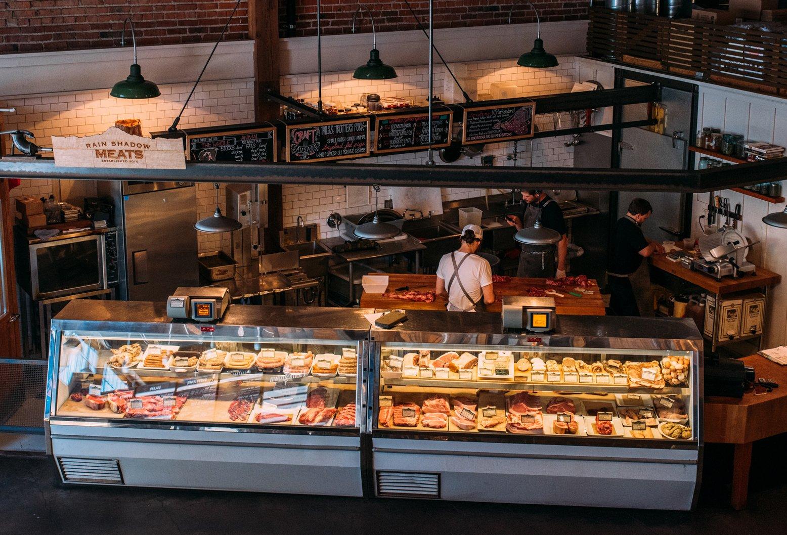 butcher inside of Melrose Market