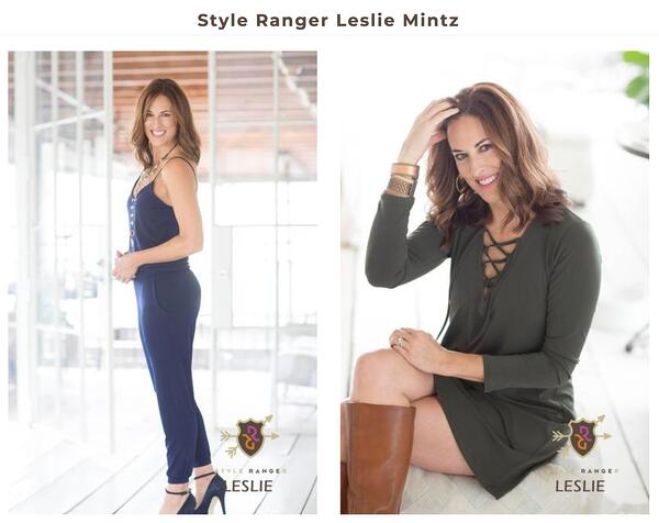 Woman posing for Range Boutique ad