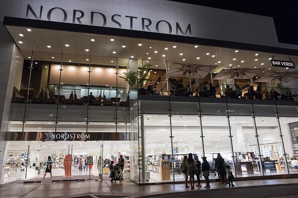 nordstrom storefront in a mall