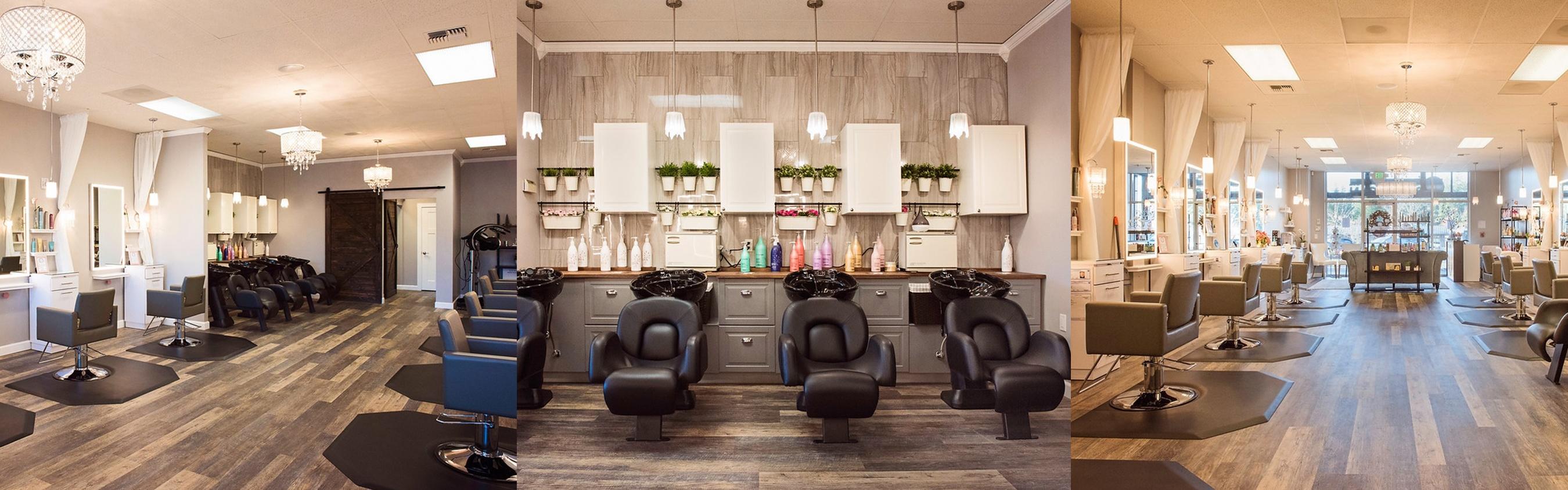Salon chairs inside of Larissa Sofia salon