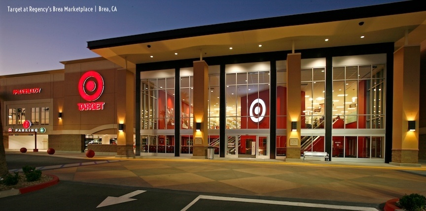 "Digital rendering a ""flexible format"" Target storefront."