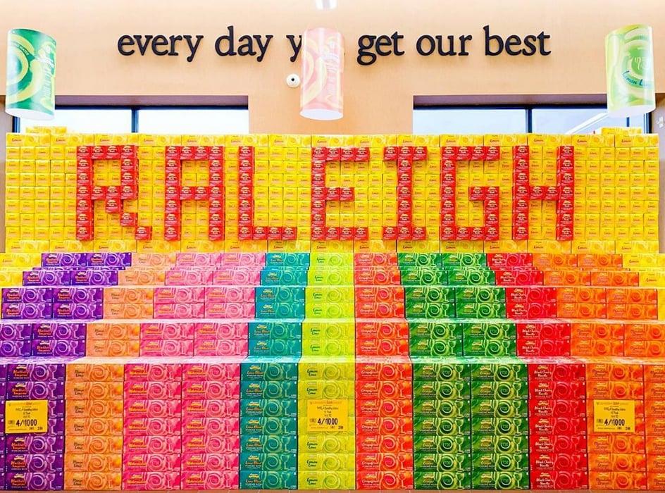 Wegmans Raleigh display