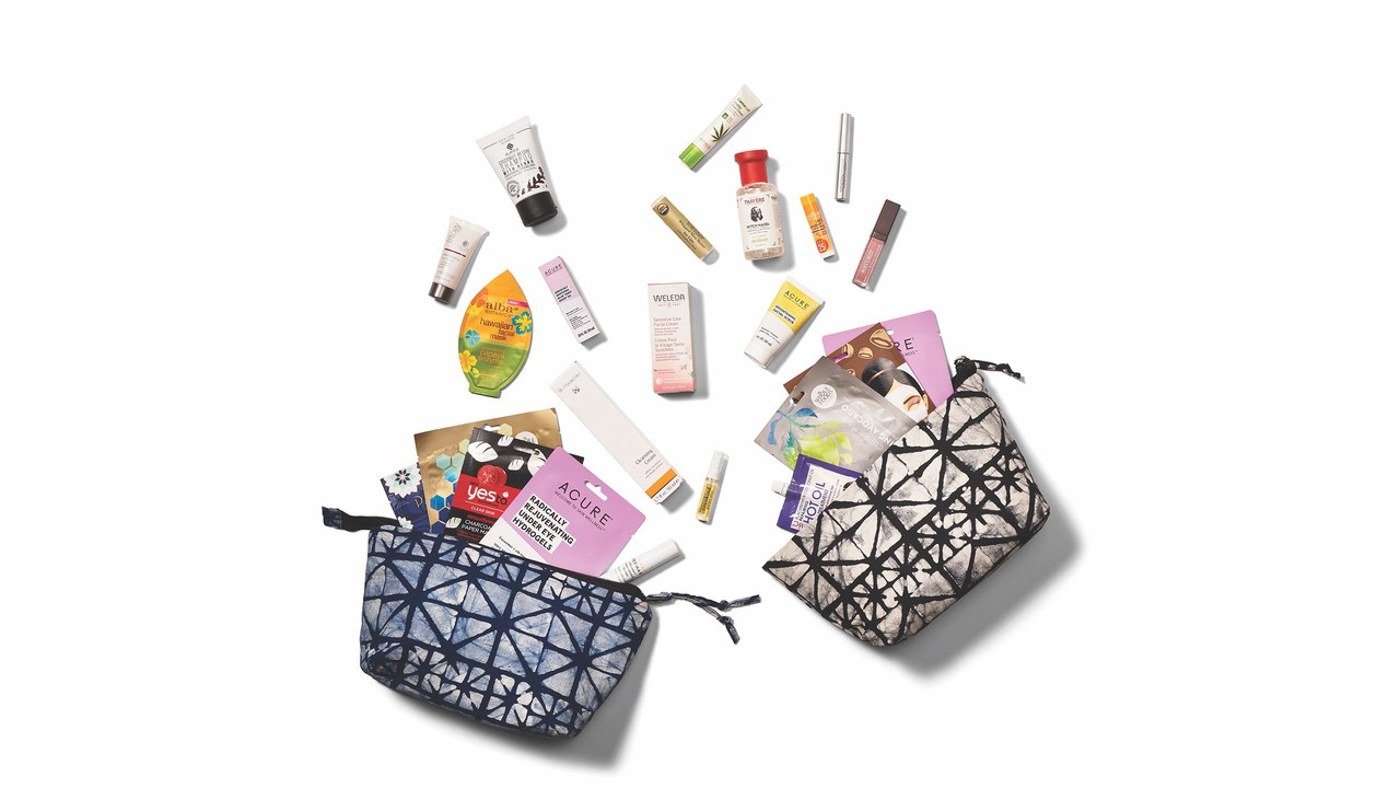 Whole Foods Beauty Swap bags and their contents