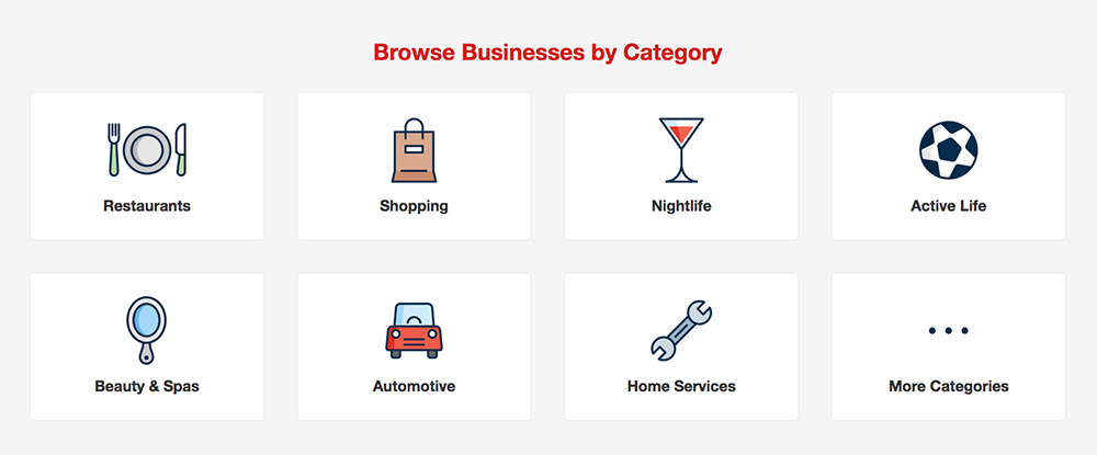 YelpCategories