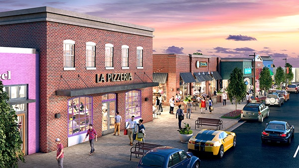 rendering of Carytown Exchange in Richmond