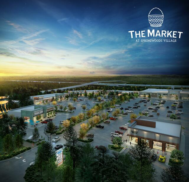 Rendering of the Market and Springswoods Village plaza