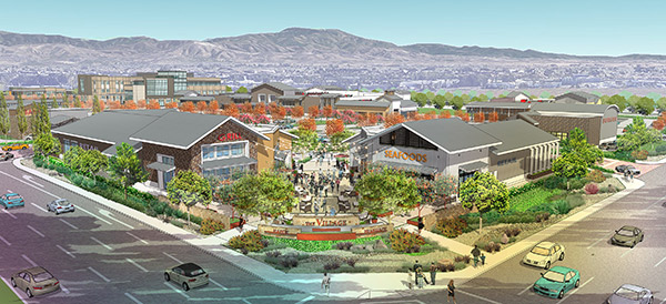 Digital rendering of the Village at Tustin Legacy.