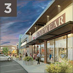 Rendering of an eyewear storefront in The Market at Springwoods Village