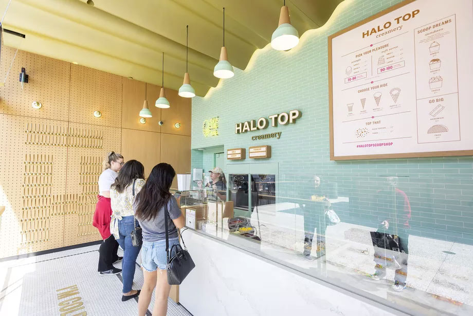 inside halo top creamery