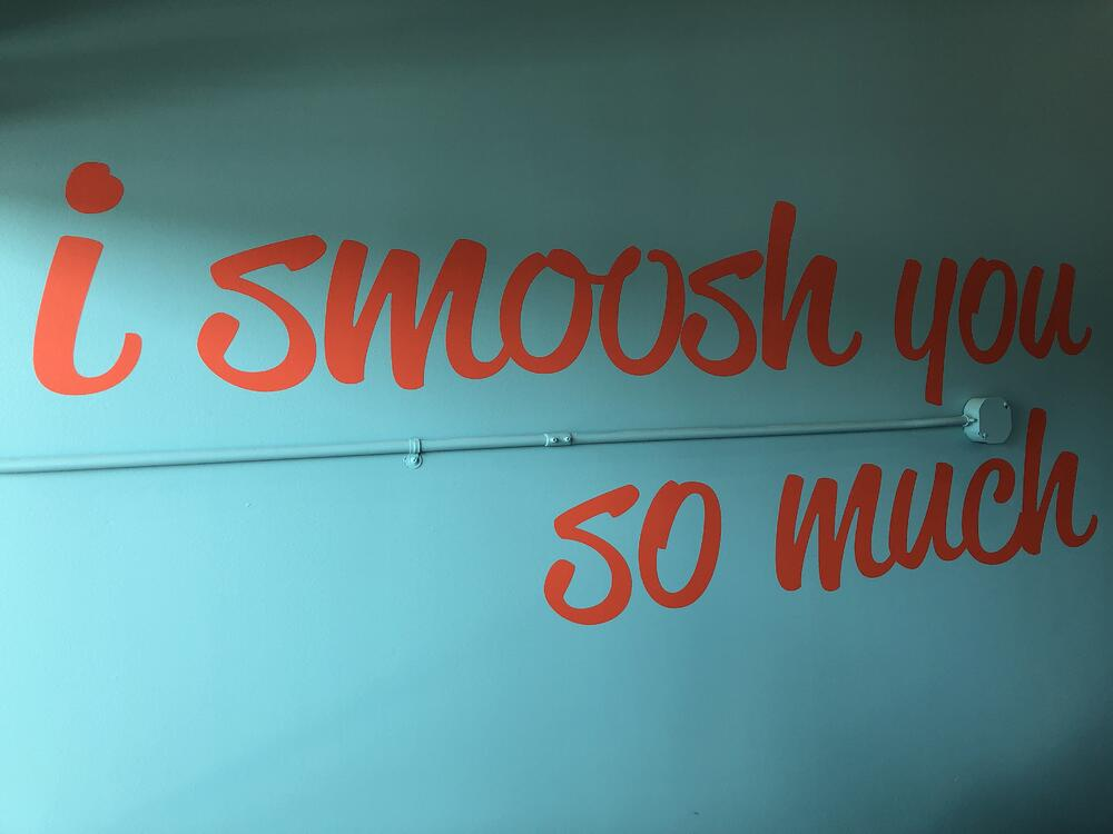 I Smoosh You So Much Painted Wall
