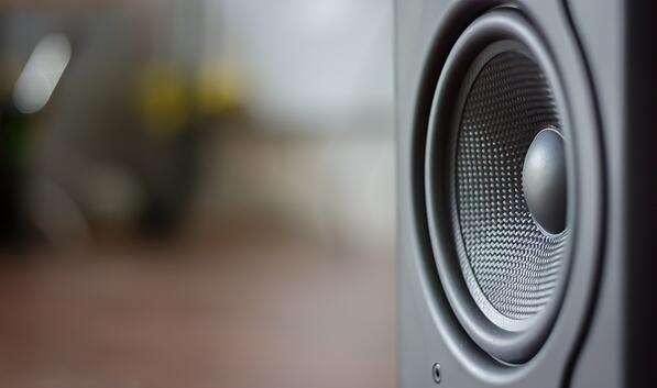 Close-up of a speaker.