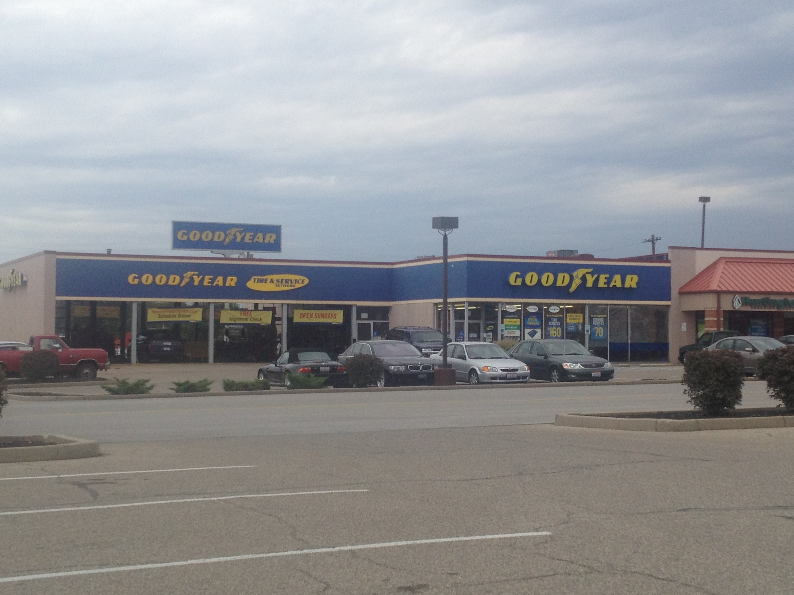 Goodyear storefront.