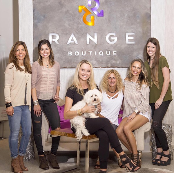 Range Boutique shoppers posing as models