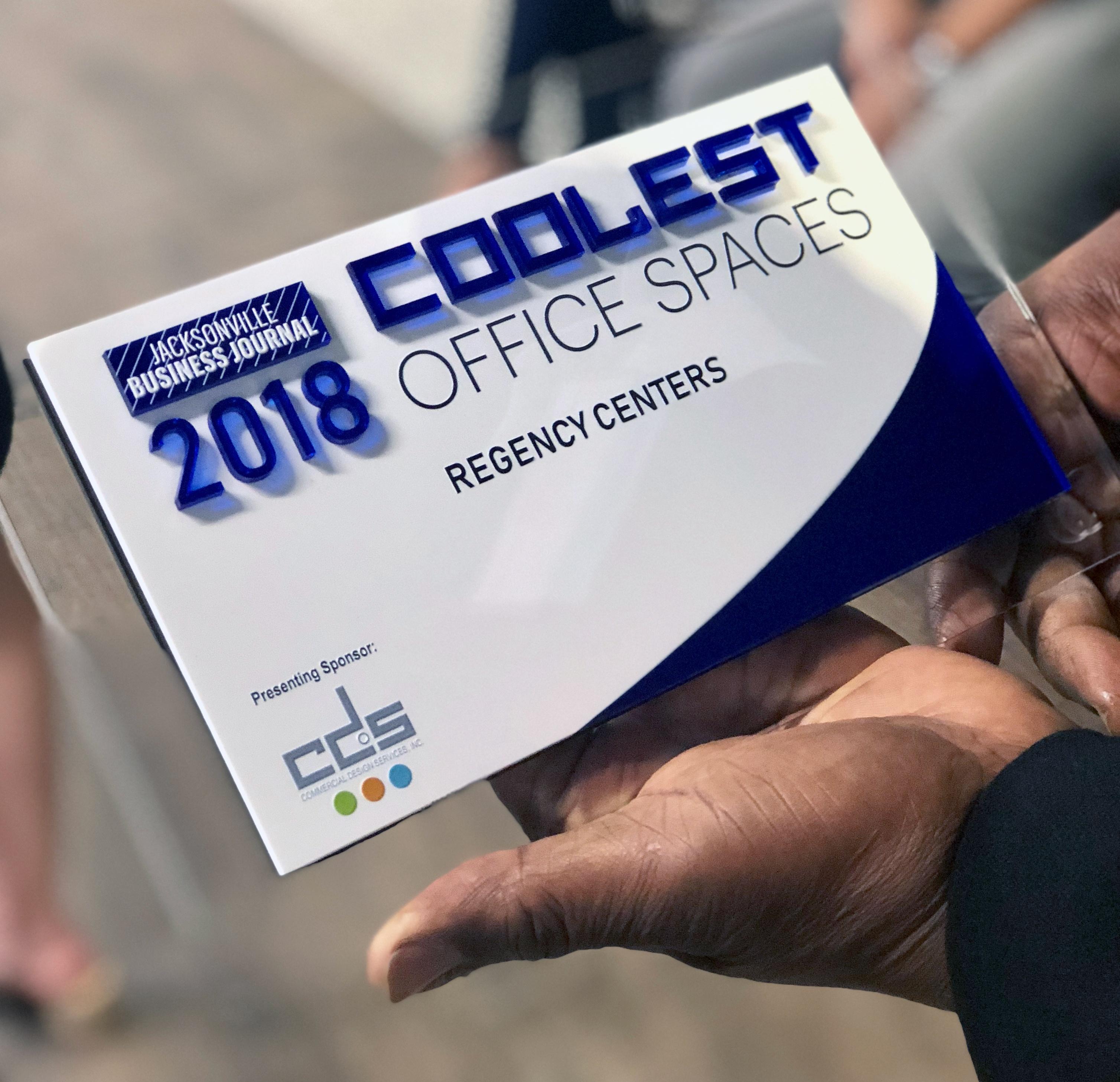 Jacksonville Business Journal Gives Regency \'Coolest Office Space\' Award
